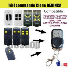 Telecommande portail garage BIP remplacement BENINCA TO GO 2WP TOGO 4WP / LOT W