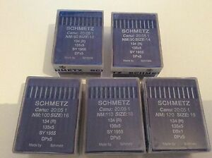SCHMETZ INDUSTRIAL SEWING MACHINE NEEDLES 134R, 135x5 CANU 20:05 BOX 100