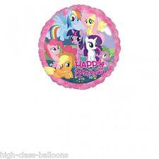 My Little Pony Happy Birthday 17inch Round foil balloon, (childrens birthdays )