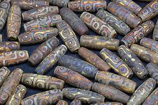 Real Tibet Old Agate Bead Tibetan 9 Eye Totem Day Beads Amulet Pendant DZI 30PCS