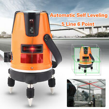 5 Lines 6 Points 4V1H Rotary Laser Level Measure Orange Automatic Self Leveling