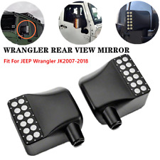 2PC Fit For Jeep Wrangler JK 07-18 LED Side Mirror Housing Amber Turn Signal DRL