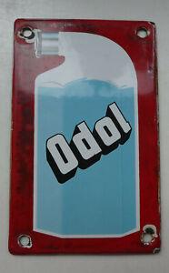 Odol, kleine älteres Türschild, Emaille