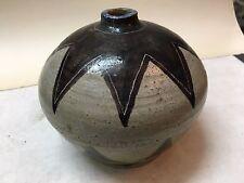 trés beau vase art déco décor au soleil signature à identifier des années 30