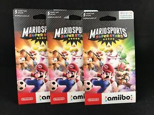 Mario Sports Superstars Amiibo Card 3-Pack (5 Cards per Pack) BRAND NEW / SEALED