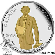 Canada 2015 $10 200th Anniversary of the Birth of Sir John A. Macdonald Silver