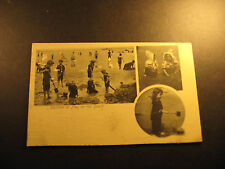 Children at Play on the Beach, used postcard, about 1904, undivided back