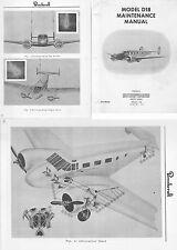 Beechcraft Model 18 Twin Beech Maintenance archive rare detail 1950's manual