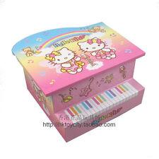 JAPAN HELLO KITTY PIANO CLOCKWORK MUSIC BOX /JEWELRY BOX 531980