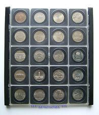 DDR 5 Mark-Sammlung__20 versch., 1969-1990 *** in DDR-Kassette !