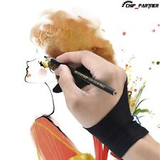 1PC Artist Drawing Glove Two Fingers Glove Antiskid for Graphics Tablet Black