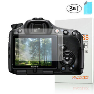 3X NX For Sony Alpha SLT A33 / A35 / A55 Camera Tempered Glass Screen Protector