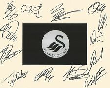 A 10 x 8 inch mount personally signed by13 Swansea City players on 13.08.2016.