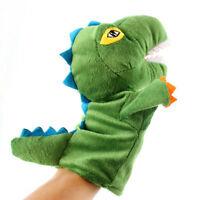 KQ_ Cute Cartoon Dinosaur Plush Soft Hand Puppet Toddler Kids Pretend Play Toy N