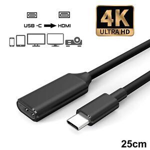 USB-C zu HDMI Adapter 4K UDH Typ C auf HDMI Samsung Galaxy MacBook Huawei TOP