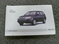 2013 Subaru Forester SUV Owner Manual 2.5X 2.5XT Premium Limited Touring