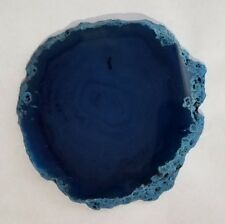 Brazilian Agate Geode Slab/Slice- Large Light Blue Color - 255a