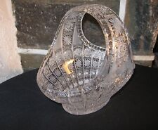 Queen  Lace Crystal Basket  older one from Private home Stunning !