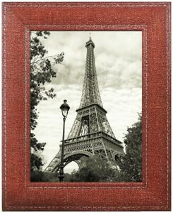 Fabric Design Wood Picture Frame 4x6 Wall and Tabletop Gallery Display