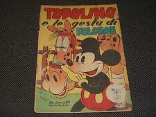 """ALBO D'ORO N.101 I° EDIZIONE 1948 TOPOLINO E LE GESTA DI FOLGORE - OTTIMO """"U"""""""