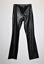 STATURE Brand Black Faux Leather Develop Hipster Pants Size 8 BNWT #TG86