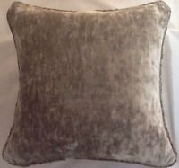 A 16 Inch cushion cover in Laura Ashley Caitlyn Truffle Velvet Fabric