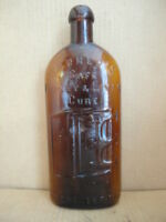 Warners Safe Kidney & Liver Cure Bottle Amber Clean & Nice Rochester NY