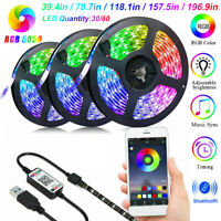 RGB LED Strip Lights IP65 Waterproof 5050 5M 300 LEDs 6V+Bluetooth Controller