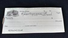 First National Bank of Aiktin MN counter checks vintage