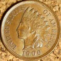1906 Indian Head Cent - SHARP ALMOST UNC+ BEAUTY,   (K550)