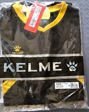 NEW KELME FUTBOL SOCCER SHIRT BLACK GOLD BREATHE COMFORT 78200 JERSEY SMALL a008