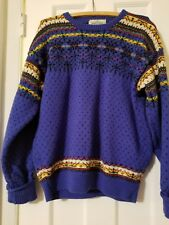 VINTAGE STOWE WOOLENS LTD Nordic Ski Sweater Made in VT  - M's M/W's L