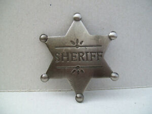 SHERIFF BADGE.DRESS UP LINE DANCING COLLECTABLE