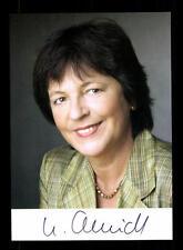 Ursula Schmidt AUTOGRAFO MAPPA ORIGINALE FIRMATO # BC 99142