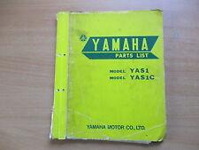 Parts list catalogue pièces Catalogue YAMAHA yas1/yas1c manuel atelier
