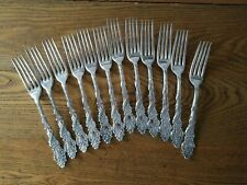 "Set of 12 1847 Rogers Silverplate Forks ""Columbia"""
