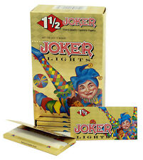 One (1) Box of Joker Lights 1 1/2 Cigarette Rolling Papers - 78mm 24 Booklets