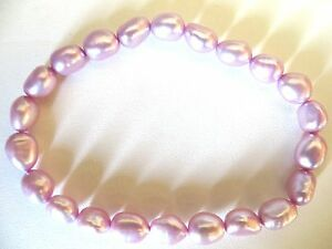 Honora Cultured Lilac Color Pearls Stretch Bracelet 7MM