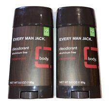 2-Qty Every Man Jack Deodorant Aluminum-Free Cedarwood 3 oz Stick Vegan GF
