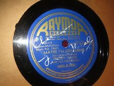 78RPM Raymor 5003 Freddy Nagel, smudged AUTOGRAPH Maybe / Honkin Horn nice V+E-