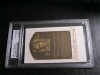 Rube Marquard Autographed HOF Cut PSA Certified Encapsulated