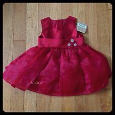 New - CRAZY 8 Gem Flower Sash Dress - RED - Baby Girl - Size 0-3 Mos