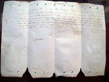 1752 ECCEZIONALE PERGAMENA CONDANNA A MORTE DI BANDITO F. MIANI DETTO 'IL MORO'