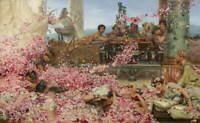 Lawrence Alma Tadema Roses Giclee Art Paper Print Paintings Poster Reproduction