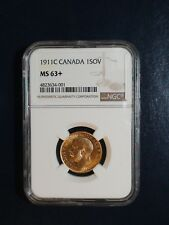 1911C Canada GOLD SOVEREIGN NGC MS63+ UNCIRCULATED 1S Coin PRICED TO SELL NOW!