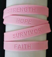 Full 4-Set Breast Cancer Awareness Latex-Free Bracelets-NON-PROFIT!