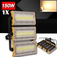 1x 150W LED Flood Light COB Chip Outdoor Waterproof Lamp Warm White AC 110V IP66