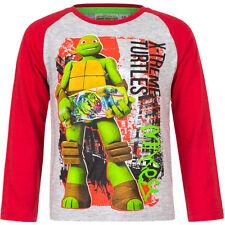 NUEVO Jersey Camiseta manga larga Niños Tortugas Ninja Verde Azul Rojo 98 104