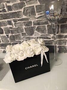 ★Originale CHANEL Tüte Flowerbox Papiertasche als Rosenbox Rosen Tüte NEU★