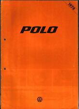 VW Volkswagen Polo Mk 1 N L LS 1977-78 Original UK Sales Brochure punch holes